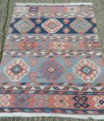 A Kilim rug. 182 x 130 cm.