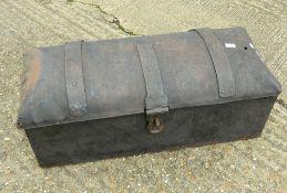 A Georgian Blacksmith made iron strong box.