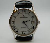 A Jaeger-LeCoultre Ultra Slim gentleman's automatic date wristwatch.