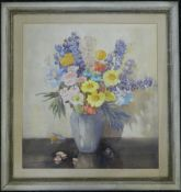 DORCIE SYKES (1908-1998) British, Still Life of Flowers, watercolour, framed and glazed. 49 x 53 cm.