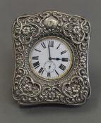 A silver cased Goliath pocket watch