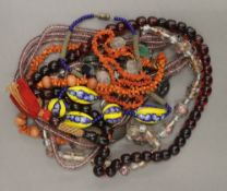 A quantity of bead necklaces