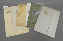 Six Japanese photographs.