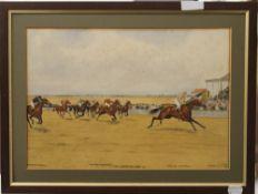 ISAAC CULLIN, The Cambridgeshire Stakes 1911 inscribed ''Mercutio - C Trigg Up,