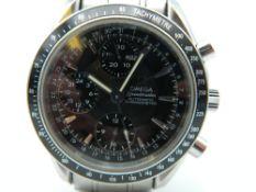 An Omega speedmaster automatic chronometer gentleman's wristwatch.