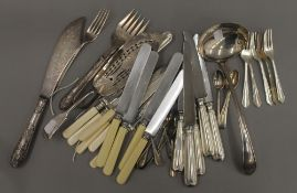 A quantity of silver and silver plate.