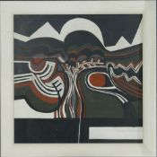 A Modern British Abstract oil on board, framed. 59.5 x 59.5 cm.