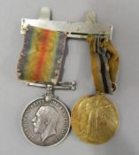 Two WWI medals, awarded to 31615 Pte. W R A Canham Rif.