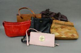 A box of handbags,