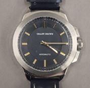 A working Grant Brown wristwatch. 5 cm wide.
