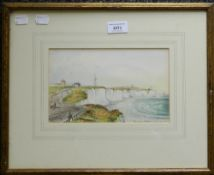 Cliffs Beyond Brighton, watercolour, indistinctly signed, dated July 24 1851, framed and glazed.