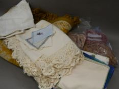 A quantity of various linen, etc.