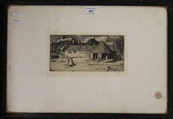 WILLIAM STRANG RA (1859-1921) Scottish, The Farmyard, etching, signed in pencil to margin,