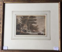 WILLIAM HARDING (18TH/19TH CENTURY) British, River Scene, watercolour, framed and glazed. 16 x 10.