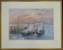 CUTHBERT T BELL, Riva Schia Voni, watercolour, framed and glazed. 49 x 35 cm.