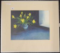 MARTIN KNOWELDEN, Mediterranean Daffodils, watercolour, monogrammed and dated 1976,