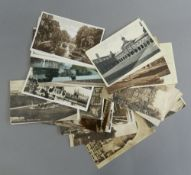 A quantity of vintage Cambridge postcards