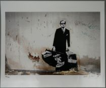 BLEK LE RAT (born 1951) French, Getting Through The Walls 2008, limited edition print,