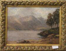 J JEROME MILLER (19th/20th century) British, Scottish Scene, oil on panel, signed, framed.