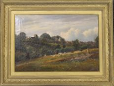 C A GRAVES, View of Hastings, oil on canvas, signed and dated 1888, framed. 50 x 34.5 cm.