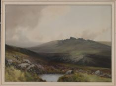 R D SHERRIN, Moorland Scene, watercolour, signed, framed and glazed. 52.5 x 38.5 cm.