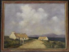 After PAUL HENRY, Irish Scene, oil on canvas, signed, framed. 66.5 x 50 cm.