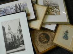 A quantity of various prints, etchings, etc.