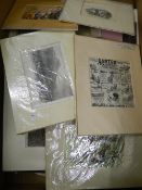 A large quantity of coloured etchings and prints, including military, fashion and advertising.