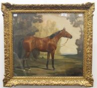 JAMES LYNWOOD PALMER, Horse Study, oil, signed and dated 1919, framed and glazed. 49 x 44 cm.