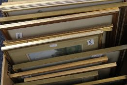 A quantity of various framed 19th century watercolours, etc.