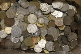A large collection of coins