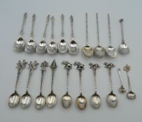 A quantity of various silver teaspoons. 7.4 troy ounces.