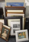 A large quantity of various pictures and prints