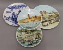 A quantity of decorative ceramics, glass, beadwork tray, etc.