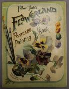 A vintage Father Tuck's Flowerland Postcard Painting Book. 20 cm wide.