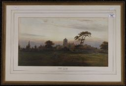 FRED MILLER, Evening Wivelsfield, watercolour, framed and glazed. 52 x 28 cm.