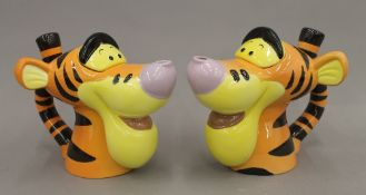 Two Disney Tigger teapots