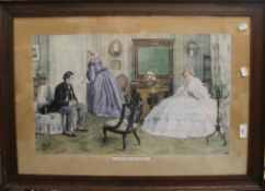 A 19th century oak framed Pears coloured print ''The Matchmaker'';