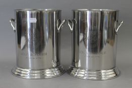 A pair of Louis Roederer style coolers. 24 cm high.