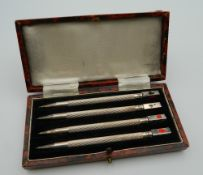 A box set of silver bridge pencils