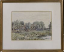 ROBERT WINTER FRASER (1872-1930) British, The Ferry Boat Inn, watercolour, signed,