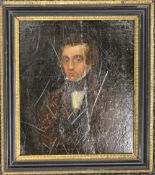 18TH/19TH CENTURY, Portrait of a Gentleman, oil on board, framed. 15.5 x 18 cm.