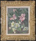 Still Life of Flowers, oil on canvas, signed M COGNERAS LELEGARD, framed. 31.5 x 39.5 cm.