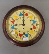A fusee wall clock. 32 cm wide.