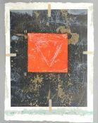 JAMES COIGNARD (1925-2008) French, Untitled, mixed media, signed, unframed. 57 x 76 cm.