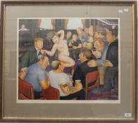 BERYL COOK (1926-2008) British, limited edition print, signed to margin, framed and glazed.