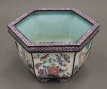 A Chinese enamelled jardiniere. 11 cm high.