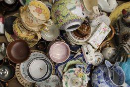 A quantity of 19th century decorative ceramics