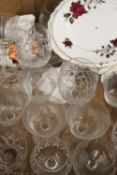 A large quantity of ceramics, glass, etc.