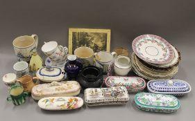 A large quantity of 19th century decorative ceramics